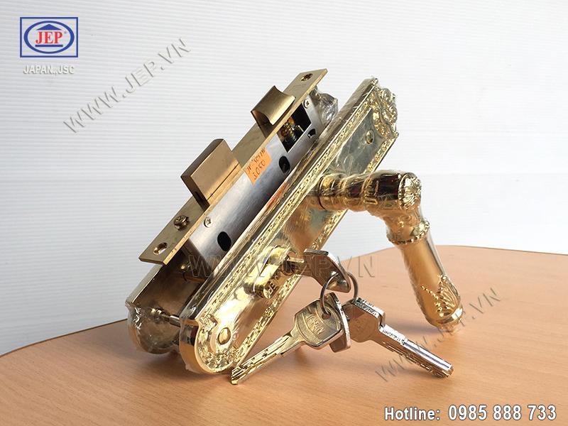 Khóa cửa gỗ thông phòng JP-505-PVD - ảnh 1