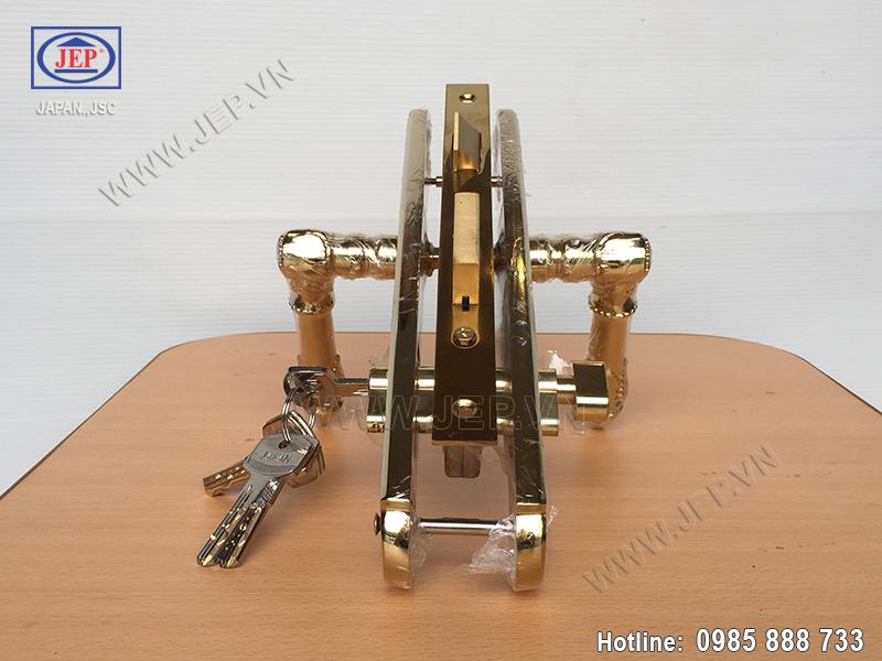 Khóa cửa tay gạt bằng đồng JP-805-PVD - ảnh 4