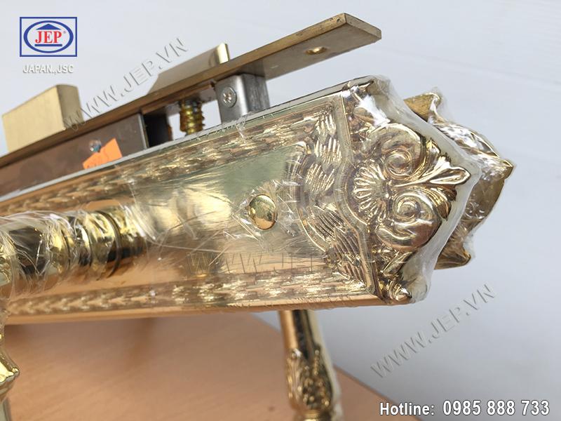 Khóa cửa tay gạt bằng đồng JP-805-PVD - ảnh 5