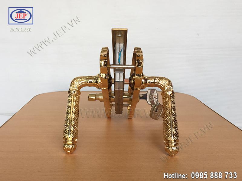 Khóa cửa tay gạt mạ vàng JP-801-24K - ảnh 2