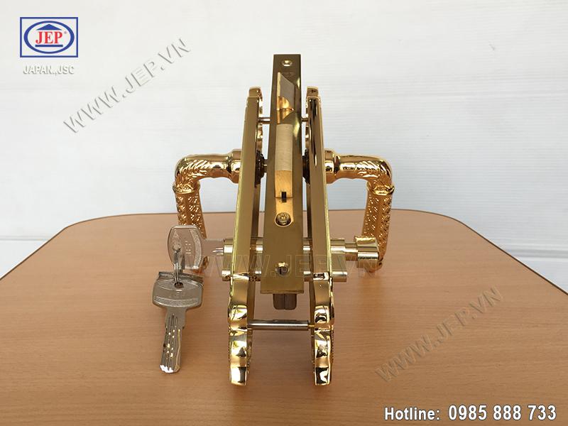 Khóa cửa tay gạt mạ vàng JP-801-24K - ảnh 3