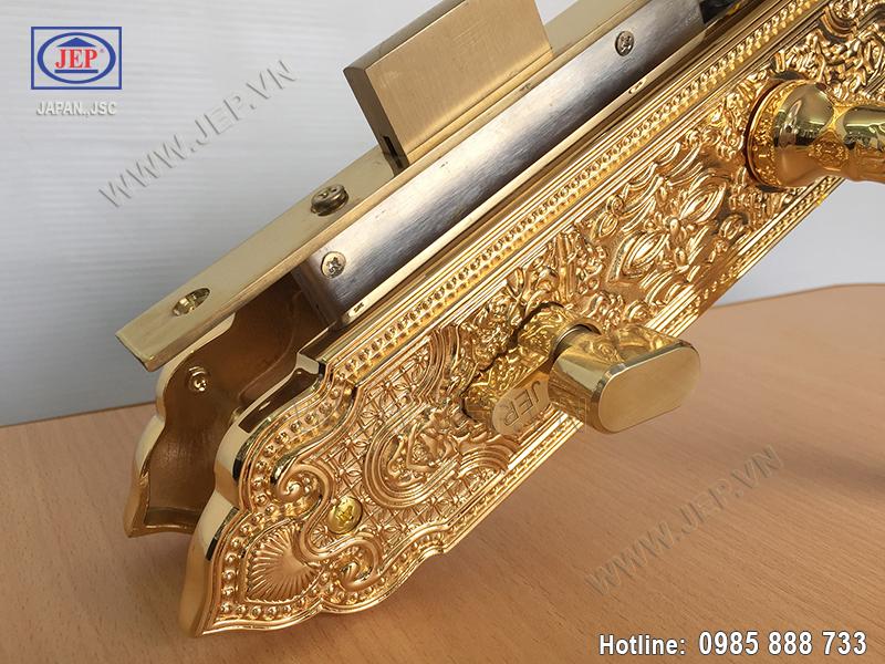 Khóa cửa tay gạt mạ vàng JP-801-24K - ảnh 4