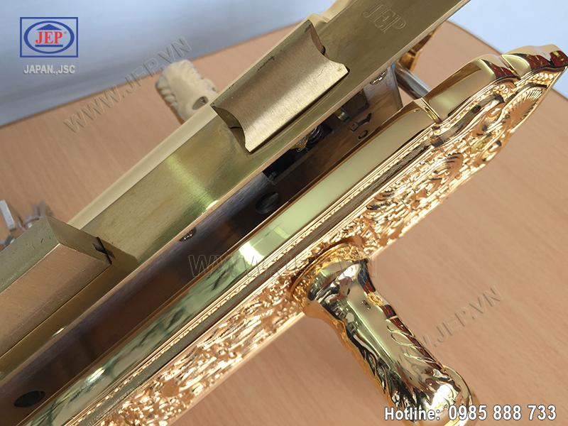 Khóa cửa tay gạt mạ vàng JP-801-24K - ảnh 5