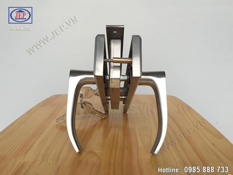 Khóa cửa tay gạt MC15 inox sus304 thân inox - 4