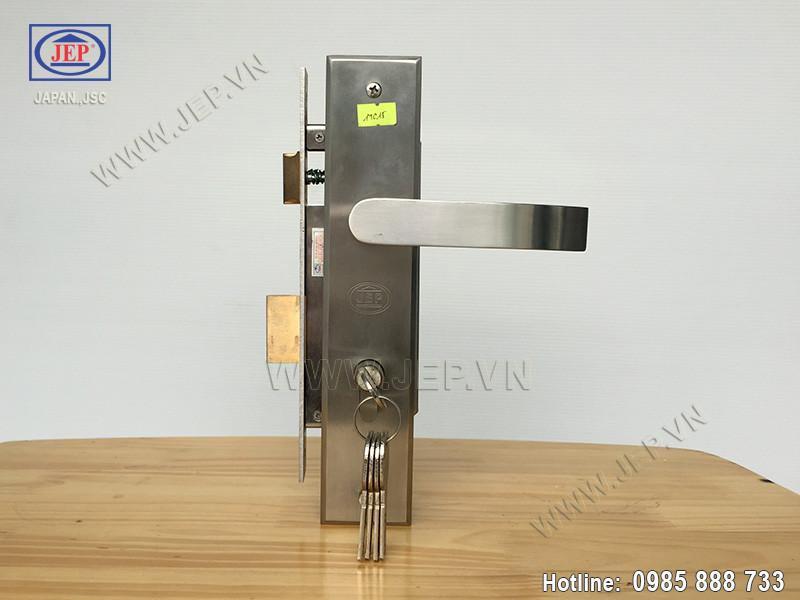 Khóa cửa tay gạt MC15 inox sus304 thân inox - 6