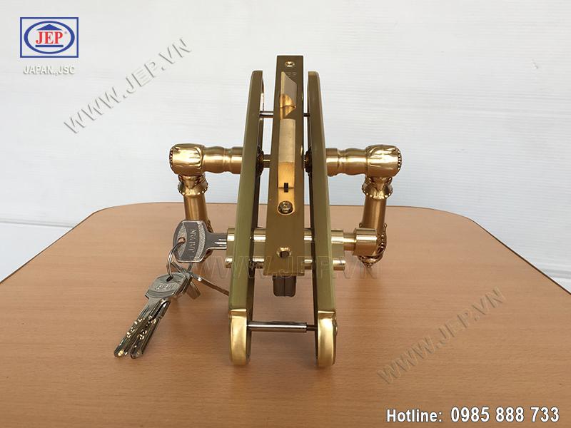 Khóa cửa tay nắm bằng đồng JP-805-RG - ảnh 3