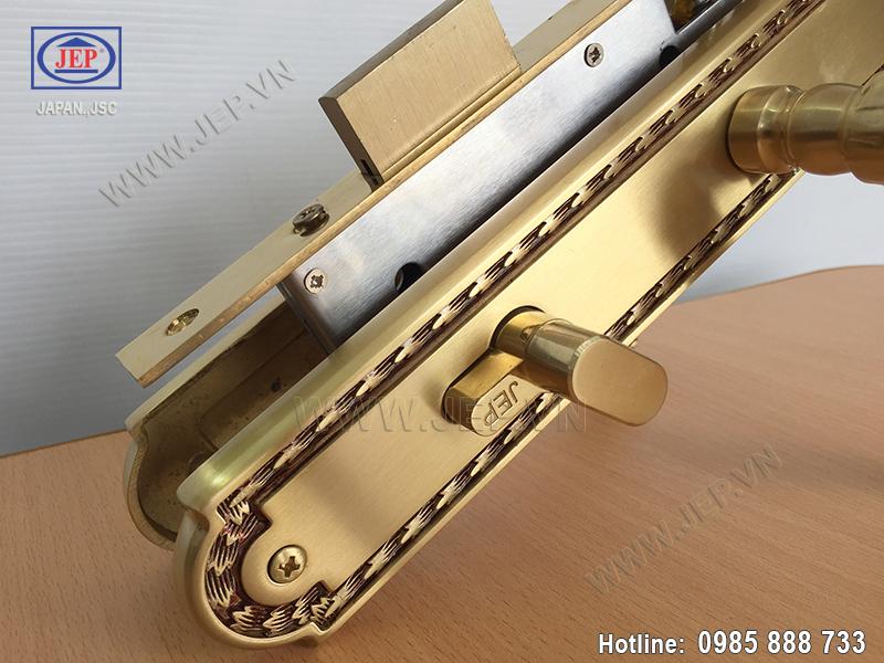 Khóa cửa tay nắm bằng đồng JP-805-RG - ảnh 4