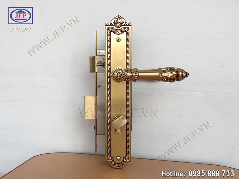Khóa cửa tay nắm bằng đồng JP-805-RG - ảnh 6