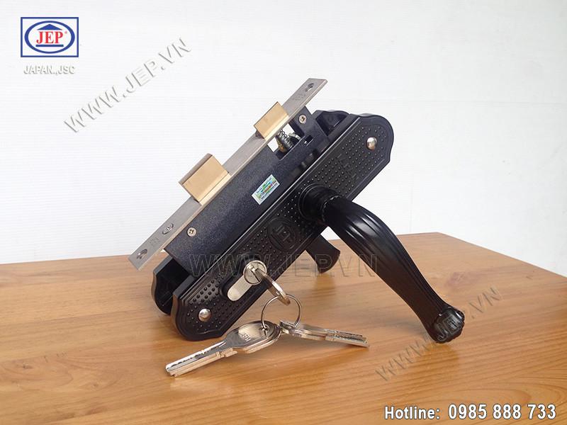 Khóa tay gạt thông phòng - vệ sinh MC14 đen