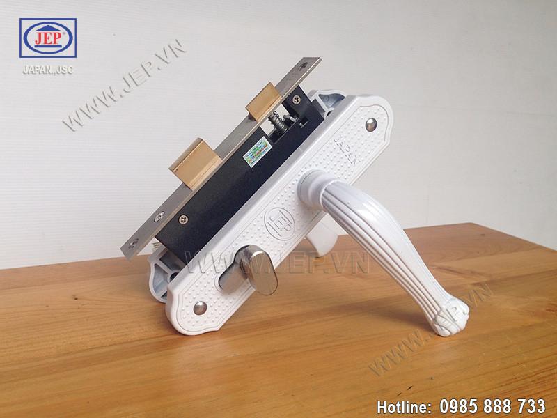 Khóa tay gạt thông phòng - vệ sinh MC14 trắng