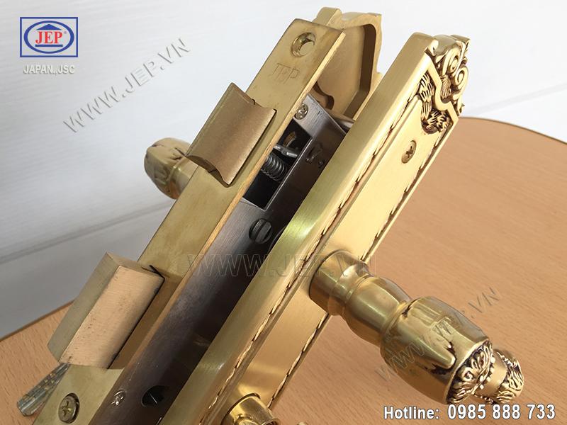 Khóa tay gạt cửa phòng ngủ JP-505-RG - ảnh 5