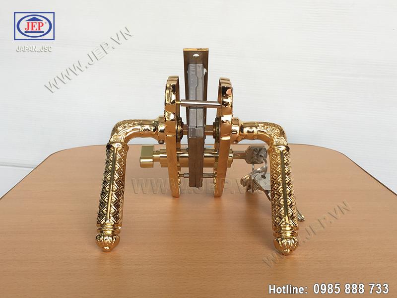 Khóa tay gạt bằng đồng mạ vàng JP-501-24K - ảnh 2