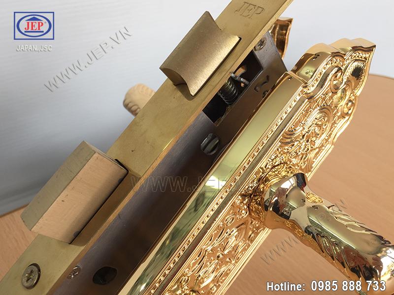Khóa tay gạt bằng đồng mạ vàng JP-501-24K - ảnh 5