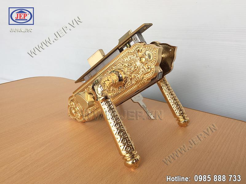 Khóa tay gạt bằng đồng mạ vàng JP-501-24K - ảnh 6