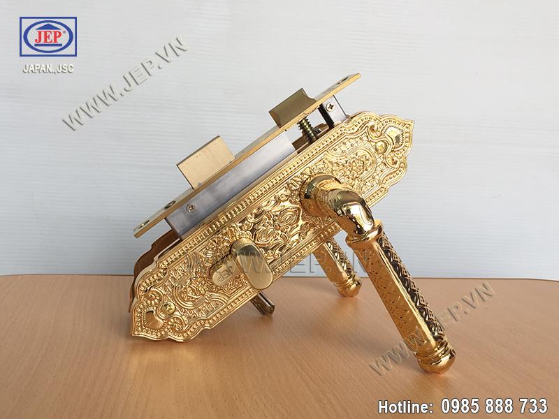 Khóa tay gạt đồng mạ vàng JP-501-24K