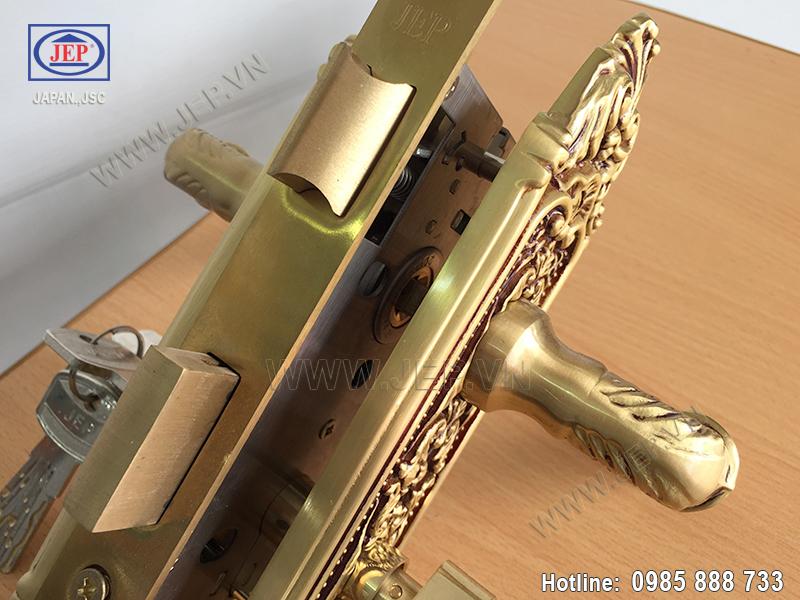 Khóa thông phòng bằng đồng JP-503-RG - ảnh 3